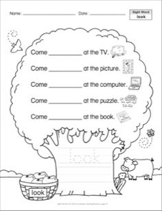 look: Sight Word Trees