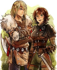 Genderbend Hiccup and Astrid! ~Httyd~