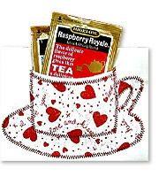 Valentine Tea Cards : adaptable to other occasion cards where a tea bag would be welcome.