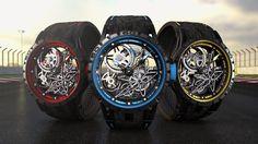 @ROGER_DUBUIS : Excalibur Spider Pirelli colourful trio ••• DES COULEURS...