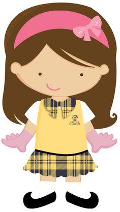 ESCOLA & FORMATURA Cute Baby Drawings, Baby Icon, Girls Clips, Chibi Girl, Cute Clipart, Girl Dancing, Cute Images, Cute Stickers, Girl Cartoon