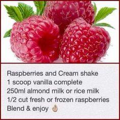 Raspberries and cream