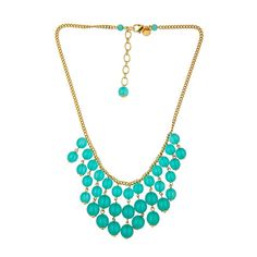Loren Hope Avery Turquoise Bib Necklace ($95) found on Polyvore