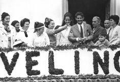 Acervo/Estadão Rivelino foi recebido com festa de flores organizada por vizinhos na Copa de 1970