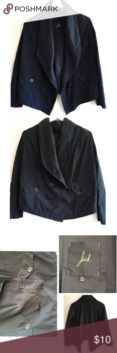 """Chic velvety blazer Velvety outside and silky inside. Double breasted. Color is a little faded. A couple of spots on back see pic. 23"""" wide. jack Jackets & Coats Blazers"""