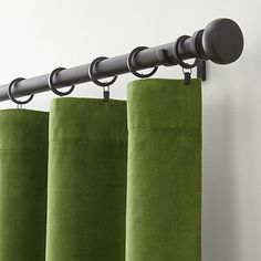 Shop Windsor Blue Velvet Curtains. Luxurious midnight blue velvet curtain panels frame windows in lush, plush midnight. Made of 100% cotton velvet, the panels are lined in cotton and have generous three-inch top and bottom hems. also available.