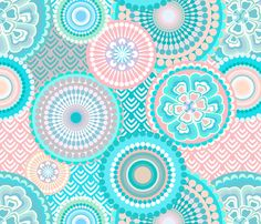 eclectic_flowers Baby fabric by chicca_besso on Spoonflower - custom fabric