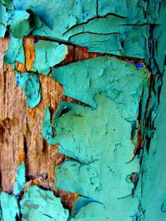 Color - colour inspiration - Peeling belleza de pintura en decadencia; color, textura y patrón de inspiraciones de la naturaleza