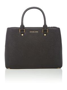 Savannah black large tote bag