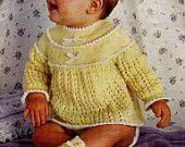"So CUTE Angel TOP & BOTTEES Knitting Pattern - 2 Sizes 0-18 Months (18-21""; 45-53cm) 4 Ply Vintage Instant Download Kenyon Books Pdf 0697"