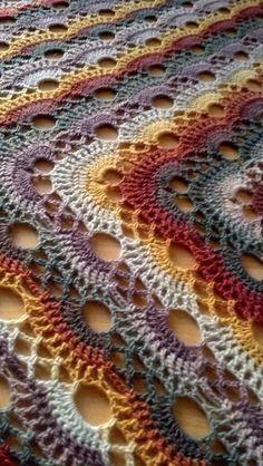 Crochet - German Scallop Shawl (Free Pattern) Using KnitPicks Chroma Fingering in Watercolor (2 balls) 3.5mm Clover Soft Touch Hook - Erin Allen