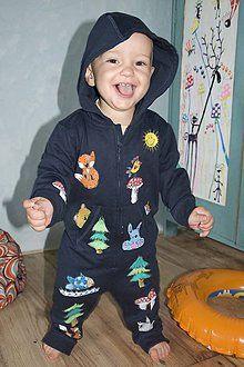 Detské oblečenie - Overalík z rozprávkového lesíka - 6984879_