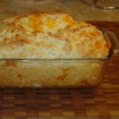 Red Lobsters Cheese Biscuit recipe done in a loaf pan