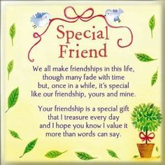 Birthday Quotes : Happy Friendship Day Images Quotes Wishes Shayari and Special Friend Quotes, Someone Special Quotes, Friend Poems, Special Friends, Thank You Friend Quotes, Sister Friend Quotes, Love You Friend, Close Friends, Birthday Message For Friend Friendship