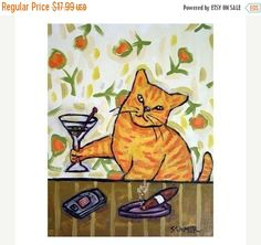 10% off SALE orange cat ginger cat tabby cat by SCHMETZPETZ