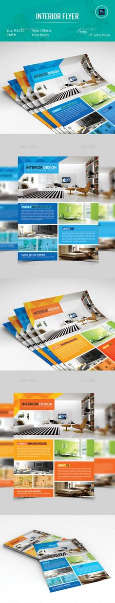 Interior Design Flyer Layouts, Brochures and Flyer template - interior design flyers