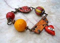 how to mend a broken heart bracelet    by marthasrubyacorn on Etsy, $47.00