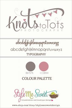 Custom Logo Design For Knots To Tots Photography