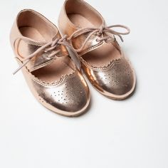 Shoes- Gold Blucher