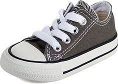 Converse - Kleinkind / Jugend Allstar Low Chuck Taylor-Schuhe in der Holzkohle, EUR: 19, Charcoal - http://on-line-kaufen.de/converse/19-damen-sneaker-converse-ctas-core-canvas-women