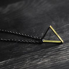 Simple triangle necklace from Samantha Bird