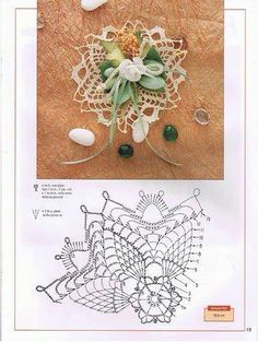 World crochet: Decoration 21 Crochet Tablecloth, Crochet Doilies, Crochet Flowers, Crochet Stitches, Crochet Patterns, Diy Wedding Day, Diy And Crafts, Paper Crafts, Pineapple Crochet