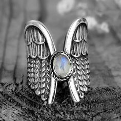 Angel Wing Ring, Angel Wings, Sunflower Ring, Casual Rings, Birthday Gifts For Girls, Elephant Ring, Moonstone Ring, Types Of Rings, Stainless Steel Rings