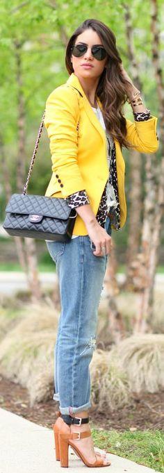 Zara Yellow Cute Blazer by Super Vaidosa - calça solta e dobradinha . Sempre com salto