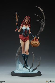 J Scott Campbell Red Riding Hood Statue | Sideshow Collectibles Sideshow Toys, Sideshow Collectibles, Magic Store, J Scott Campbell, Toy People, Fairytale Fantasies, Star Magic, Red Riding Hood, Fairy Tales
