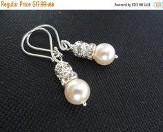 ON-SALE Ivory Pearl and Rhinestone Bridal by weddingbellsdesigns