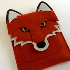 Handmade Fox Ipad Sleeve- i'd do it as a lunch kit instead
