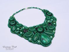 Hey, I found this really awesome Etsy listing at https://www.etsy.com/listing/198654279/bead-embroidery-collar-necklace-green