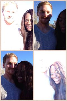 """The hardest part of being in a biracial relationship is taking a picture together."" Haha omg"