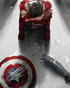 Tony with Steve's shield and Bucky's arm. I really, REALLY want to know what happened after Steve and Bucky left. When Tony realized that they were truly gone, was he relieved? Regretful? Did he cry? Was it from shame at his own actions, sorrow at the loss of a friend, or from the unfairness of the situation in general? How long did he stay there, alone, in the cold and snow? Did he miss Steve as soon as he was gone, or is his heart still broken enough that he does not want Steve back?