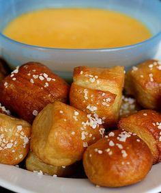 Homemade Soft Pretzel Bites Recipe on twopeasandtheirpod.com Easy to make and SO good!