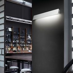 Alba 01 Wall Light from Bover Linear Lighting, Outdoor Wall Lighting, Bar Lighting, Interior Lighting, Lighting Design, Kitchen Lighting, Lighting Ideas, Contemporary Wall Lights, Modern Wall Lights