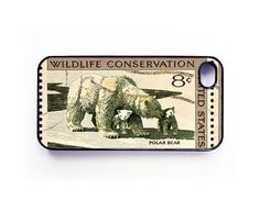 iPhone 4 Case  Polar Bear Conservation Stamp by caseosaurus, $16.99