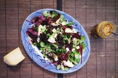 Black Pudding Salad with Honey Mustard Dressing By Sinéad Smyth Black Pudding, Honey Mustard Dressing, Side Salad, Easy Salads, Dressing Recipe, Pork Roast, I Foods, Salad Recipes, Main Dishes