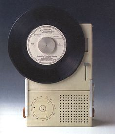 Dieter Rams for Braun, vertical record player.