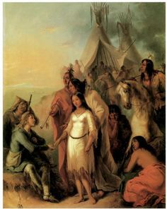 The Trapper's Bride by Alfred Jacob Miller - In the and centuries, many British and French-Canadian fur traders married First Nations.