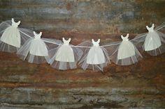Adorable Bride Gown Banner for Bridal Shower or Bachelorette Party - Wedding LottieElizabeth {Etsy}