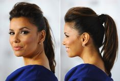 Eva Longoria's Super Chic Ponytail - Do It Yourself - How to Get Hollywood's Best Hairstyles at Home - StyleBistro