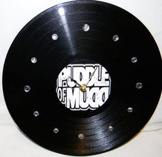 How do I not own this??? PUDDLE OF MUDD Vinyl Record Wall Clock by PandorasCreations, $25.00