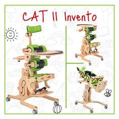 Ο ορθοστάτης Cat ΙΙ Invento, προσφέρει ιδανική θέση στο παιδί είτε για εμπρόσθια είτε για οπίσθια ορθοστάτιση, βοηθώντας σημαντικά στην καλή σωματική ανάπτυξή του. Με πλαϊνά στηρίγματα και ζώνες στήριξης, στα κατάλληλα σημεία, για την ασφάλεια του παιδιού και ρυθμιζόμενη γωνία κλίσης από 0 έως 90 μοίρες, ο Cat ΙΙ είναι η κατάλληλη επιλογή για κάθε παιδί με κινητικά προβλήματα.