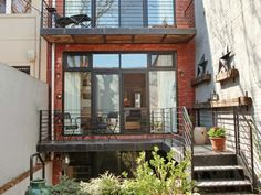 brownstone deck