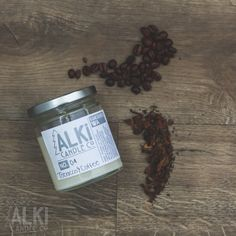 All Natural, Eco-Friendly Soy Candle. Tobacco & Coffee is sure to spike your scents, this sweet and bitter pair makes for the most wonderful of combinations. 16.00 at Alki Candle Co.