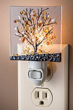 Fused Glass Tree Night Light
