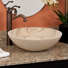 Sandstone Vessel Sink - Vessel Sinks - Bathroom Sinks - Bathroom