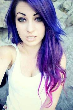 Purple, blue, pink, ombre
