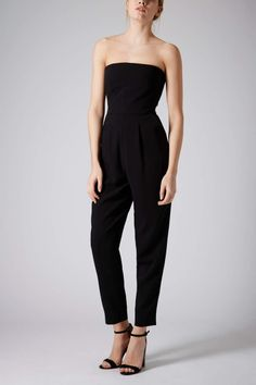 TOPSHOP | Tailored Bandeau Jumpsuit, Black.